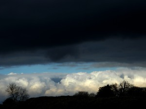 Brooding clouds at Silchester
