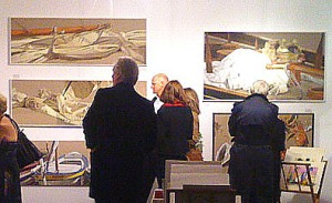 Michel Brousseau paintings at Henley Festival 2011