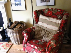 Armchair in Romo fabric