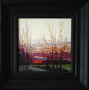 Helen White sunset painting