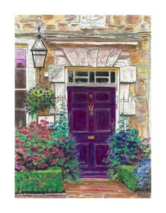 Print of Purple Door - the door of The Choristers School, Durham