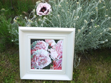 Painting of peonies by Helen White www.helenwhite.org.uk