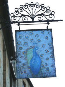 Peacock sign