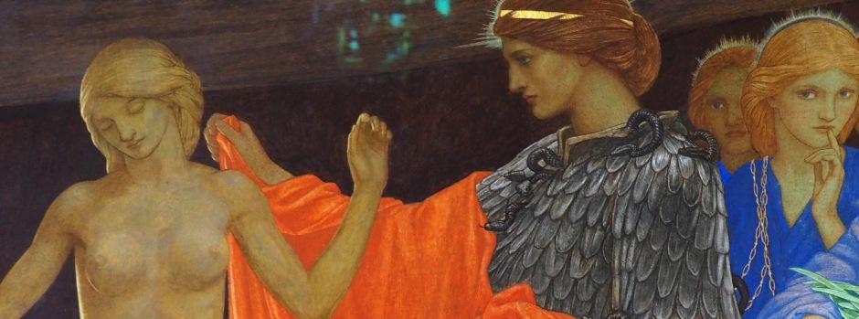 """Pandora"" pre-Raphaelite painting JD Bitten"